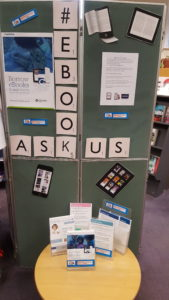 The eBook display at Batley Library