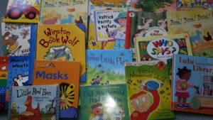 Just some of the children's books that will be available on Friday!