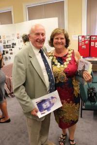 Malcolm Haigh and Mayor Gwen Lowe